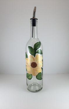 Rose Soap Dispenser Olive Oil Bottle Rose by KitchenBarHomeDecor