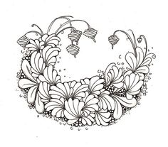 Zentangle - Floral - Art - Doodle - Drawing - Sanibelle 2 by Mariët Dronten, via Flickr