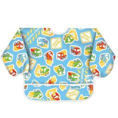 Bumkins Waterproof Sleeved Bib, Construction, 6-24 Months by Bumkins,  My Pattern- SO CUTE Feeding Zone/Messy Eater!