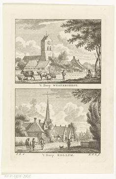 Carel Frederik Bendorp (I)   Gezicht op het dorp Westergeest en dorpsgezicht te Kollum, Carel Frederik Bendorp (I), 1786 - 1792  
