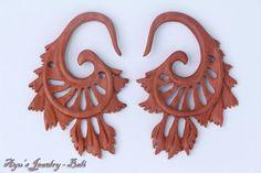 "1/8"" 6g 6ga 6gauge 4mm Wood Gauge w Balinese Tribal Carving Design #jewelry #fashion"
