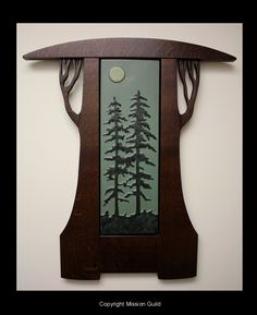 craftsman style pine tree - Google Search Craftsman Style Decor, Craftsman Frames, Craftsman Furniture, Craftsman Tile, Arts And Crafts Furniture, Home Decor Furniture, Mission Style Homes, Mission House, Craftsman Remodel