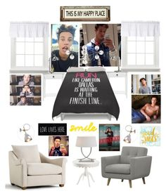 Cameron Dallas Inspired Room by dv5973 on Polyvore featuring polyvore, interior, interiors, interior design, home, home decor, interior decorating, Visual Comfort and Poncho & Goldstein
