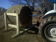 Since we got a tractor and can actually move a round bale without use of PVC pipe as rollers and only the strength of Chuck's back, he h...