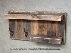 bathroom shelf with hooks rustic towel rack by my husband can make this