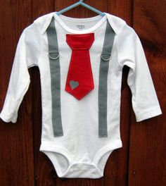Boys Tie and Suspenders for V-Day!