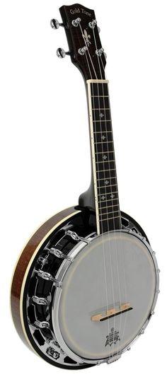 gold tone banjolele-dlx w/geared tuners Banjo Ukulele, Mandolin, Musical Instruments, Gold, Play, Design, Music Instruments, Instruments