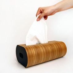 Tissue box wodd