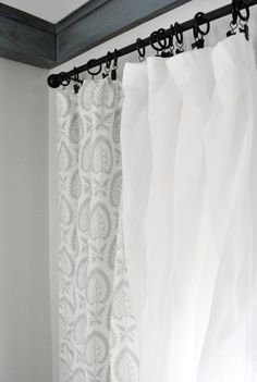Easy Home Made Curtains - No Sewing Required!