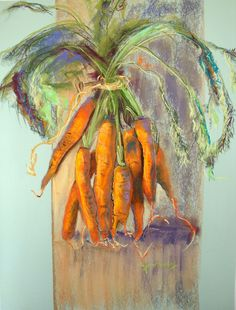 just carrots dry pastel 60 x 50 cm  Marie-France OOSTERHOF