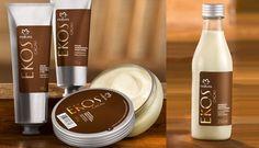 Natura Ekos Cacao, del cacao se extrae una manteca muy hidratante, su textura es densa y cremosa que protegen la piel por mas tiempo.