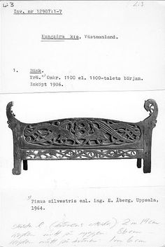 Medieval Furniture, Old Norse, Viking Art, 16th Century, Horn, Bench, Spirit, Woodworking, Illustrations