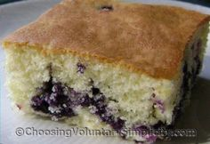 Flour the blueberries first before mixing in.Our Favorite Blueberry Cake