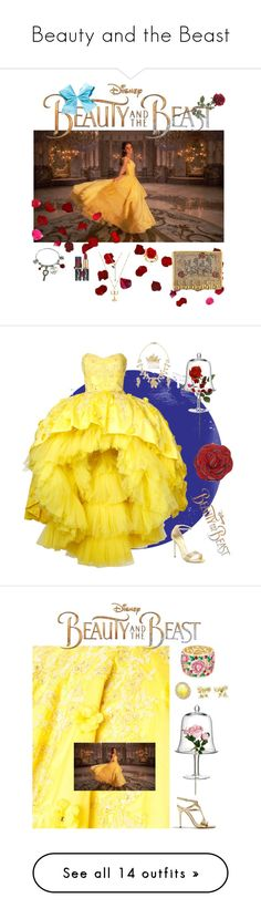 """Beauty and the Beast"" by anetacerna ❤ liked on Polyvore featuring Disney, Judith Leiber, LSA International, Mikael D, René Caovilla, Tiffany & Co., Halston Heritage, Leal Daccarett, Giuseppe Zanotti and Forever 21"