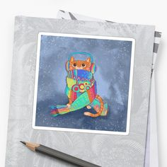 This cute cat is wrapped up in a crazy scarf, ready for winter to begin! • Millions of unique designs by independent artists. Find your thing. Photography For Sale, Cat Stickers, Cat People, Cat Gifts, Cool Cats, Creative Art, Cats And Kittens, Finding Yourself, Kitty