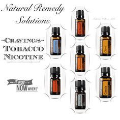 """Top oils suggested are: Black Pepper, Clove, Protective Blend. Use Black Pepper aromatically to alleviate cravings; diffuse, inhale. Brush teeth with a drop of either Protective Blend or Cinnamon oil. Combine 2 drops of Clove, Frankincense and Peppermint essential oils. Inhale in the palm, apply to the bottom of the feet, or drink one drop of the mixture with water. This remedy sourced from """"The Essential Life"""" book, 2nd Edition."""