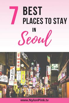 Traveling to Seoul? We found the 7 best places to stay in Seoul that you won't want to miss. Seoul is a vibrant city full of culture, yummy Korean food, and awesome sites to see. You won't want to miss these best places to stay in Seoul! #travel #travelguide #seoul #korea #seoulkorea #travelkorea #stayinseoul