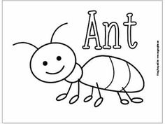 Drawing Tutorial Printables A-F   Ant art, Ant crafts, Ants