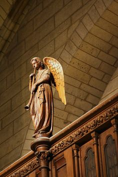 Angel at Notre Dame de Paris, France