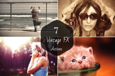 7 Vintage FX Photoshop Actions by Symufa on @creativemarket