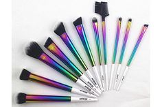 16 Rainbow Beauty Products That Will Unleash Your Inner Unicorn #refinery29  http://www.refinery29.com/2016/04/108836/rainbow-beauty-products#slide-9  Behold: a set of magical makeup brushes almost too pretty to use. AliExpress Rainbow Color Brush Set, $29.90, available at AliExpress. ...