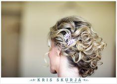 beautiful wedding hair, hair pin