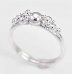Silver Bubble Ring, Stacker Ring, Argentium Sterling Silver, Granulation Ring, Silver Band, Silver Bauble Ring, Cocktail Ring by TheJewelryGirlsPlace on Etsy https://www.etsy.com/au/listing/109410686/silver-bubble-ring-stacker-ring