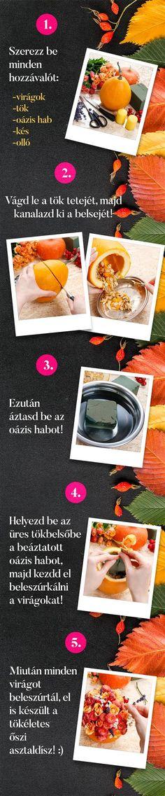 Készítsünk együtt őszi asztaldíszt! :) Okra, Decorations, Gumbo, Dekoration, Ornaments, Decor, Decoration, Embellishments, Decorating