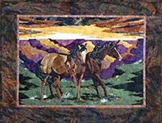 Free Horses quilt patterns by @FourTwinSisters