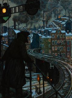 Arbeiterstadt (Working-class City), 1920 by Hans Baluschek (German, 1870–1935)