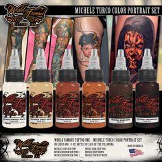 World Famous Ink - Michele Turco Portrait Set  #tattoo #tattooink #tattoosupply #tattoosuppliers #shoponline #worldfamousink #wheretobuy #wheretostart #best #quality #ink #getink #getinked #veganfriendly #vegan #tattooaddict
