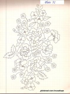 Spring Blossoms Embroidery Pattern ..... Plate # 52