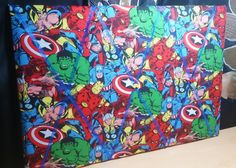 Supercool superhero noticeboard (medium size 60cm x 40cm) made to order over at www.boo-bearwares.com