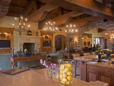 Homes with architectural details and inspiration from Tuscany