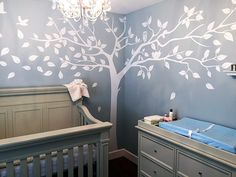 Amazon.com: PopDecors - Super Big Tree White-133inch W - Beautiful Tree Wall Decals for Kids Rooms Teen Girls Boys Wallpaper Murals Sticker Wall Stickers Nursery Decor Nursery Decals PT-0129-WHT: Baby