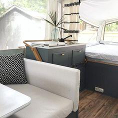 Popup Camper Remodel, Camper Renovation, Diy Camper, Camper Ideas, Camper Hacks, Camper Van, Pop Up Tent Trailer, Tent Trailers, Camper