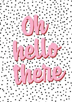 Oh Hello There Typography Fun Inspirational Wall Art Decor | Etsy Christmas Aesthetic Wallpaper, Aesthetic Iphone Wallpaper, Aesthetic Wallpapers, Typography Prints, Quote Prints, Wall Art Prints, Hello Wallpaper, Print Wallpaper, Motivacional Quotes