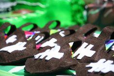 Handmade candy Bags! Felt cut into a football!