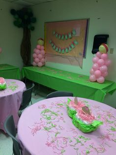 Two Peas in a Pod baby shower theme for twin baby girls