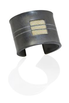 """Stunning cuff named """"A-Train,"""" which was a collaboration between Todd Reed and Atelier Zobel - Peter Schmid."""