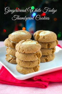Gingerbread White Fudge Thumbprint Cookies