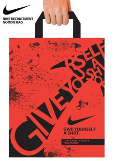 An advertising campaign to promote recruitment for Nike - Paperbag
