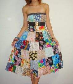 patchwork dress - Google Search