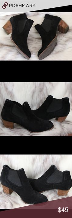 "Dolce Vita Suede Ankle Pull On Booties Boots 8.5 Condition: New worn once  🎀Color: Black  🎀Heel Height 2.05"" 🎀Round Toe  🎀Pull On  🎀Rubber Outsole Dolce Vita Shoes Ankle Boots & Booties"