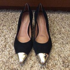 SALE HP Corso Como suede heels Beautiful Corso Como suede heels with gold toe accents.  New without box.  3 inch heel. Corso Como Shoes Heels