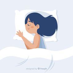 Fondo persona durmiendo en la cama   Premium Vector #Freepik #vector #fondo #mano #dibujados-mano #persona