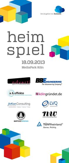 18.o9.2o13 MediaPark 6 in Köln: heimspiel von kumulus mit diesen Unternehmen. #adverti #a.h.effekte #ArKonConsulting #BartoszDronka #BBEngineering #kölngründet.de #LVQWeiterbildung #ninawitteKommunikationsgestaltung #TÜVRheinland