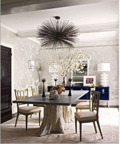 Nature inspired dining room table - 15 dining room tables that will get your guests talking
