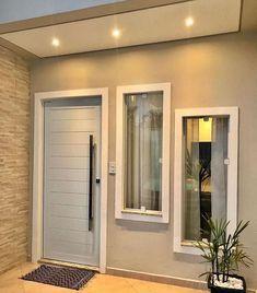 Home Design Decor, Home Room Design, Home Design Plans, Minimal House Design, Modern Small House Design, House Front Design, Small House Layout, House Layouts, Modern Entrance Door