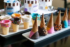 Dipped and Decorated Ice Cream Cones